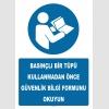 YT7537 - Basınçlı Bir Tüpü Kullanmadan Önce Güvenlik Bilgi Formunu Okuyun