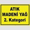 YT7580 - Atık madeni yağ, 2. kategori