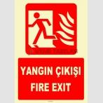 YT7666 - Fosforlu yangın çıkışı/fire exit