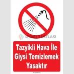 YT7771 - Tazyikli hava ile giysi temizlemek yasaktır