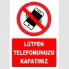 YT7796 - Lütfen telefonunuzu kapatınız