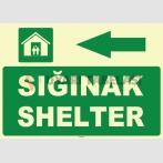 ZY1053 - Türkçe İngilizce Sığınak, Shelter, sol tarafta
