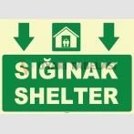 ZY1054 - Türkçe İngilizce Sığınak, Shelter, aşağı tarafta