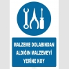 ZY1107 - Malzeme dolabından aldığın malzemeyi yerine koy