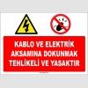 ZY1124 - Kablo ve elektrik aksamına dokunmak tehlikeli ve yasaktır