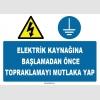 ZY1133 - Elektrik kaynağına başlamadan önce topraklamayı mutlaka yap