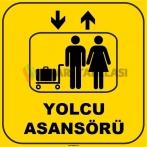 ZY1138 - Yolcu Asansörü, sarı-siyah, kare