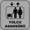 ZY1137 - Yolcu Asansörü, gri - siyah, kare