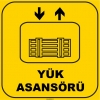 ZY1143 -Yük Asansörü, sarı - siyah, kare