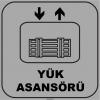 ZY1144 - Yük Asansörü, gri - siyah, kare
