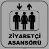ZY1140 - Ziyaretçi Asansörü, gri - siyah, kare