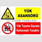 ZY1187 - Yük Asansörü, Yük taşıma dışında kullanmak yasaktır