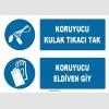 ZY1313 - Koruyucu kulak tıkacı tak, koruyucu eldiven giy