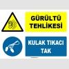 ZY1320 - Gürültü Tehlikesi, Kulak Tıkacı Tak