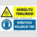 ZY1328 - Gürültü Tehlikesi, Koruyucu Kulaklık Tak