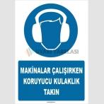 ZY1346 - Makinalar çalışırken koruyucu kulaklık takın