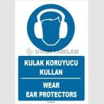 ZY1356 - Türkçe İngilizce, Kulak Koruyucu Kullan, Wear Ear Protectors