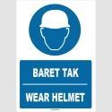 ZY1359 - Türkçe İngilizce, Baret Tak, Wear Helmet