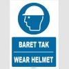 ZY1360 - Türkçe İngilizce, Baret Tak, Wear Helmet