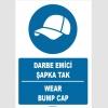 ZY1362 - Türkçe İngilizce, Darbe Emici Şapka Tak, Wear Bump Cap