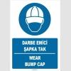 ZY1363 - Türkçe İngilizce, Darbe Emici Şapka Tak, Wear Bump Cap