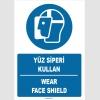 ZY1368 - Türkçe İngilizce, Yüz Siperi Kullan, Wear Face Shield