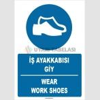 ZY1376 - Türkçe İngilizce, Koruyucu Ayakkabı Giy, Wear Safety Shoes