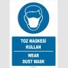 ZY1379 - Türkçe İngilizce, Toz Maskesi Kullan, Wear Dust Mask