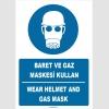 ZY1456 - Türkçe İngilizce, Baret ve gaz maskesi kullan, Wear helmet and gas mask