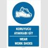 ZY1515 - Türkçe İngilizce, Koruyucu Ayakkabı Giy, Wear Safety Shoes