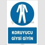 ZY1644 - ISO 7010 Koruyucu Giysi Giyin