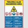 ZY-1645 - Türkçe - İngilizce Tehlikeli Alan, Hazardous Area Levhası