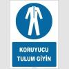 ZY1684 - ISO 7010 Koruyucu Tulum Giyin