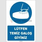 ZY1753 - Lütfen Temiz Galoş Giyiniz