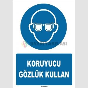 ZY1775 - ISO 7010 Koruyucu gözlük kullan