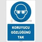 ZY1776 - ISO 7010 Koruyucu Gözlüğünü Tak