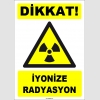 ZY1848 - ISO 7010 Dikkat İyonize Radyasyon