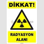 ZY1872 - ISO 7010 Dikkat Radyasyon Alanı