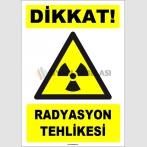 ZY1876 - ISO 7010 Dikkat Radyasyon Tehlikesi