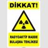 ZY1873 - ISO 7010 Dikkat Radyoaktif Madde Bulaşma Tehlikesi