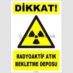 ZY1875 - ISO 7010 Dikkat Radyoaktif Atık Bekletme Deposu
