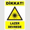 ZY1879 - ISO 7010 Dikkat Lazer Devrede