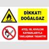 ZY1886 - ISO 7010 Dikkat Doğalgaz, Ateş, Isı, Kıvılcım Kaynaklarıyla Yaklaşmak Yasaktır