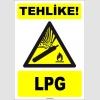 ZY1895 - ISO 7010 Tehlike! LPG
