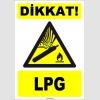 ZY1897 - ISO 7010 Dikkat! LPG