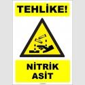 ZY1918 - ISO 7010 Tehlike! Nitrik Asit