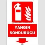 ZY1926 - ISO 7010 Yangın Söndürücü, aşağı tarafta