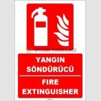 ZY1927 - ISO 7010 Türkçe İngilizce Yangın Söndürücü, Fire Extinguisher