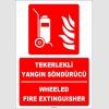 ZY1928 - ISO 7010 Türkçe İngilizce Tekerlekli Yangın Söndürücü, Wheeled Fire Extinguisher