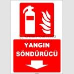 ZY1931 - ISO 7010 Yangın Söndürücü, aşağı tarafta